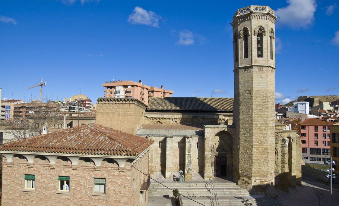 Era glèisa de Sant Llorenç, un des enclavaments patrimoniaus emblematics dera vila de Lhèida.