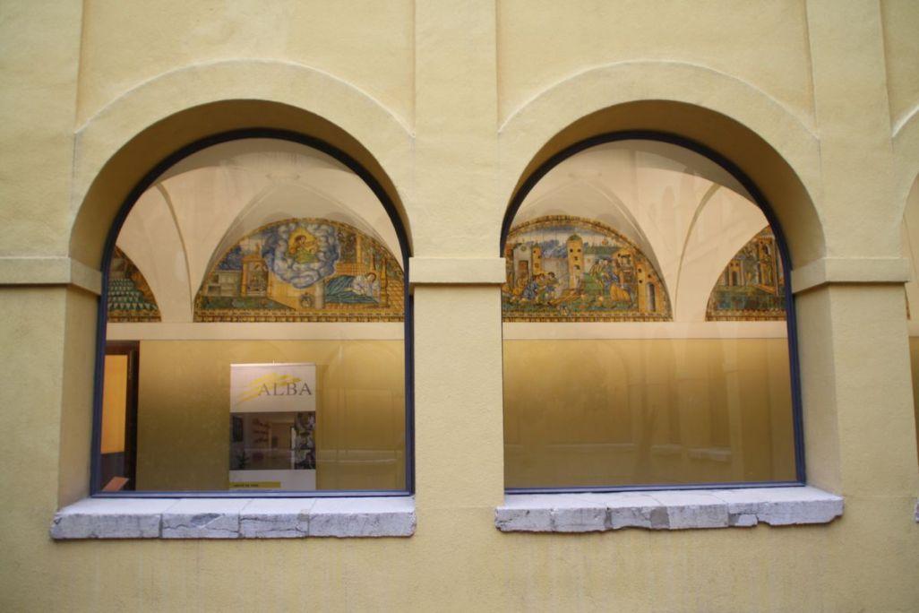 Claustro del convento de Sant Francesc desde el patio. Foto: Museo de Terrassa
