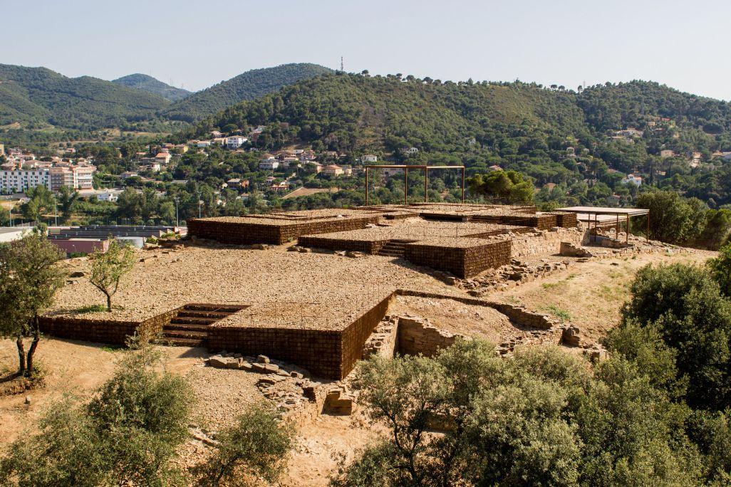 Asentamiento romano de Mons Observans. Vista aérea