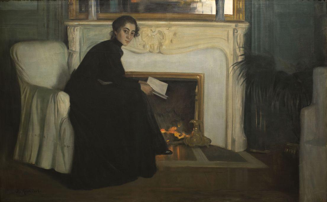 Santiago Rusiñol. Novela Romántica, 1894. Museu Nacional d'Art de Catalunya.