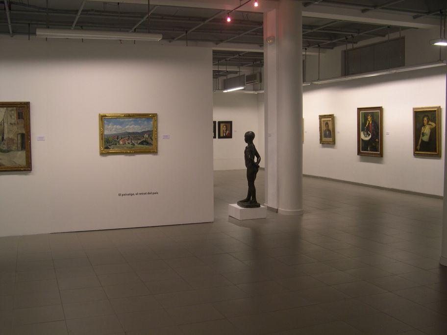 Vista general d'una de les sales del museu.