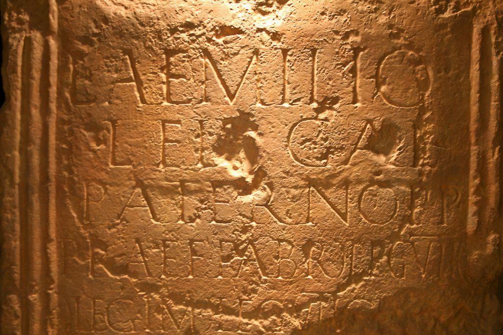 Stèle romaine d'Aeso.