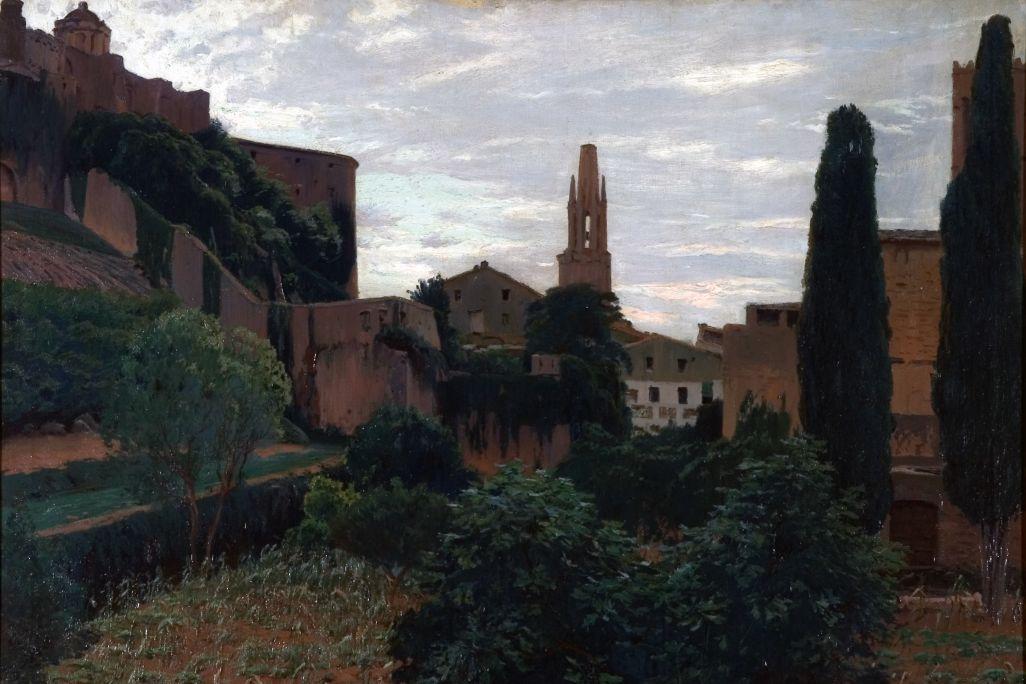 Girona, Santiago Rusiñol i Prats, 1909. Óleo sobre tela, 93 x 123 cm. Museo de Arte de Girona - Fondo de Arte Diputación de Girona.