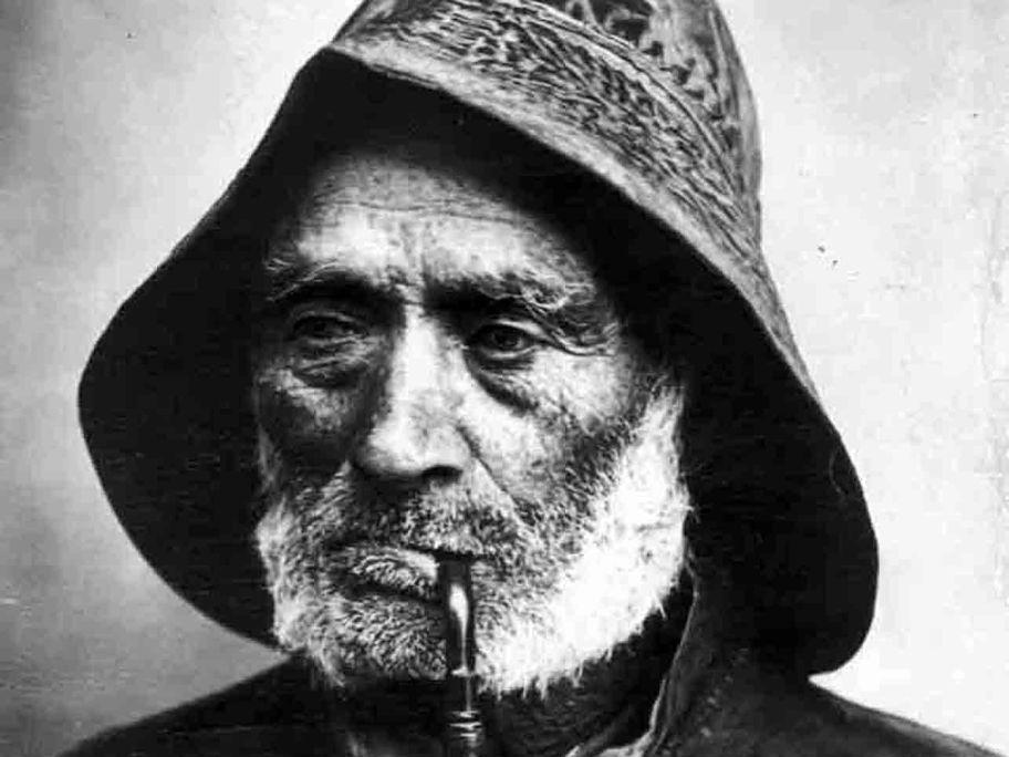 El Menut Patot. Fotografía de Josep Esquirol de la serie Cabezas de Estudio, de principios del s. XX.