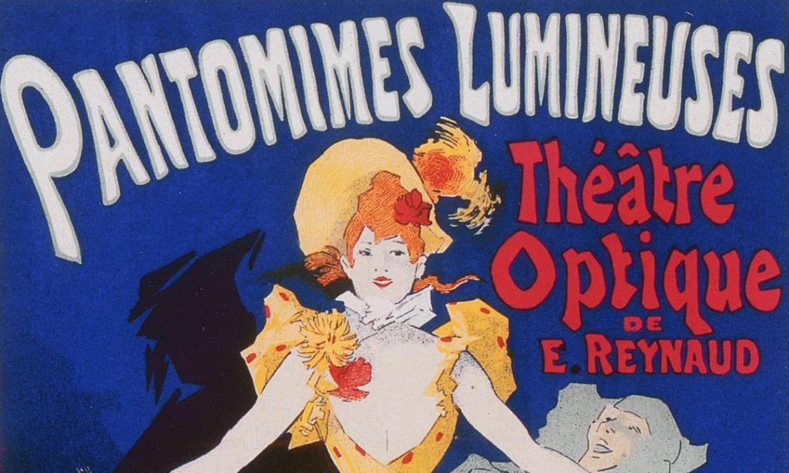 Cartell Pantomimes Lumineuses. Théâtre Optique d'Émile Reynaud (1892).
