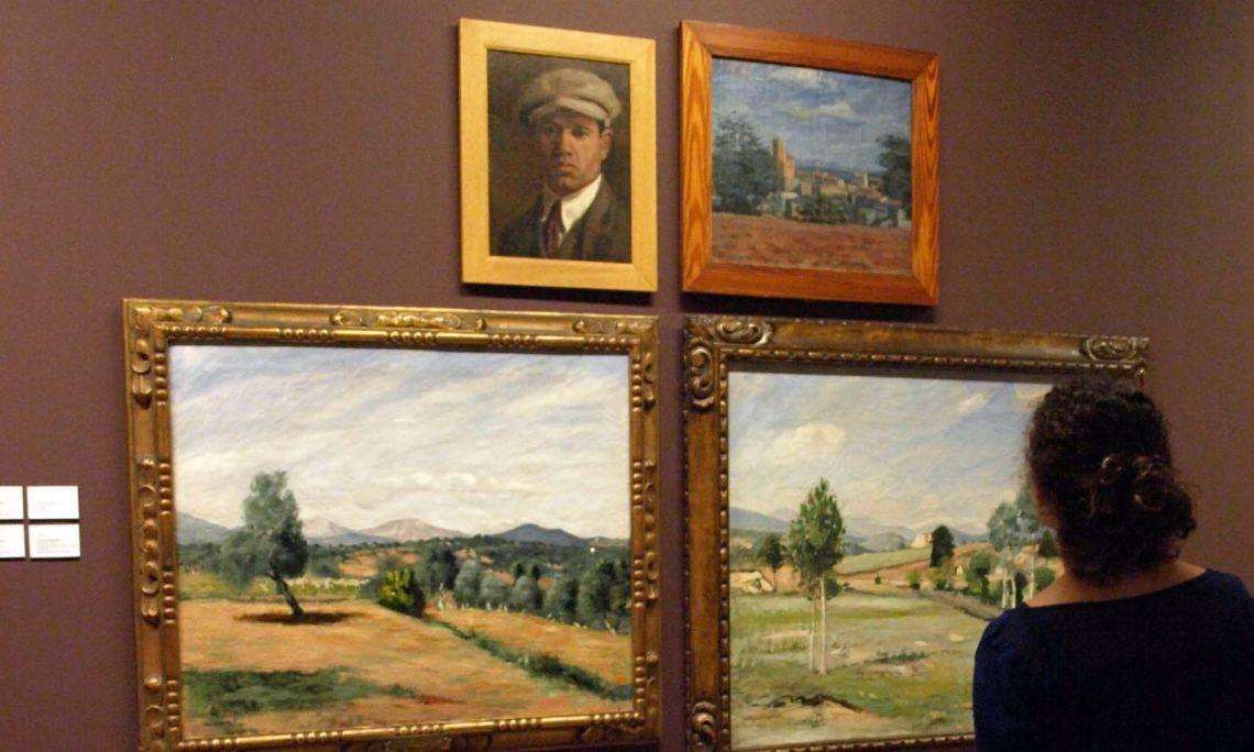 Marià LLavanera Miralles (Lladó 1890 - 1927). Les oliveres, 1920. Oli sobre tela. 71 x 86,5 cm.