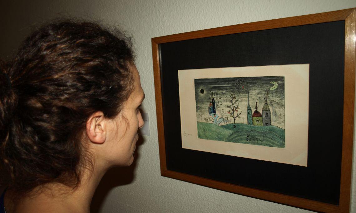Joan Ponç Bonet (Barcelona 1927 - Saint Paul de Vence 1984). Paisatge, 1949. Monotip. 17 x 25cm.