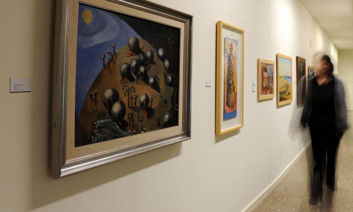 Ángeles Santos Torroella (Portbou 1911 - Madrid 2013). La Terre, 1929. Huile sur toile. 69 x 83 cm.