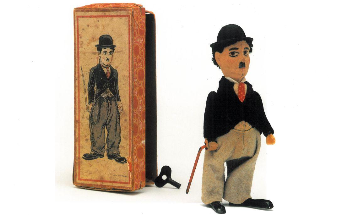 Charlot de Schuco, personaje interpretado en la pantalla por Chaplin, funciona con cuerda. Foto © Jordi Puig