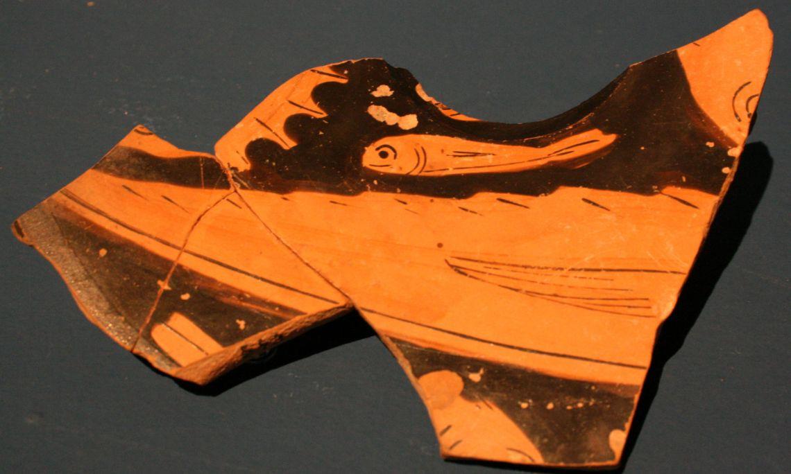 Plat de ceràmica àtica (fragment).