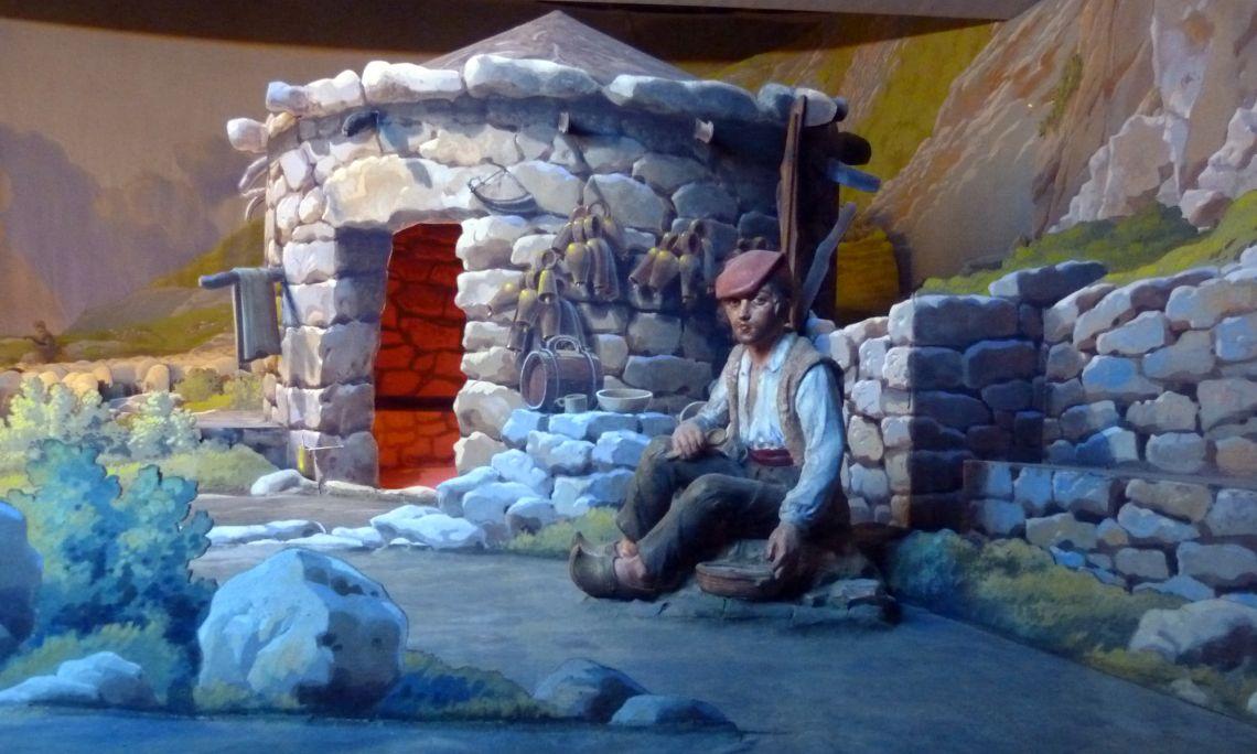 Shepherd diorama.