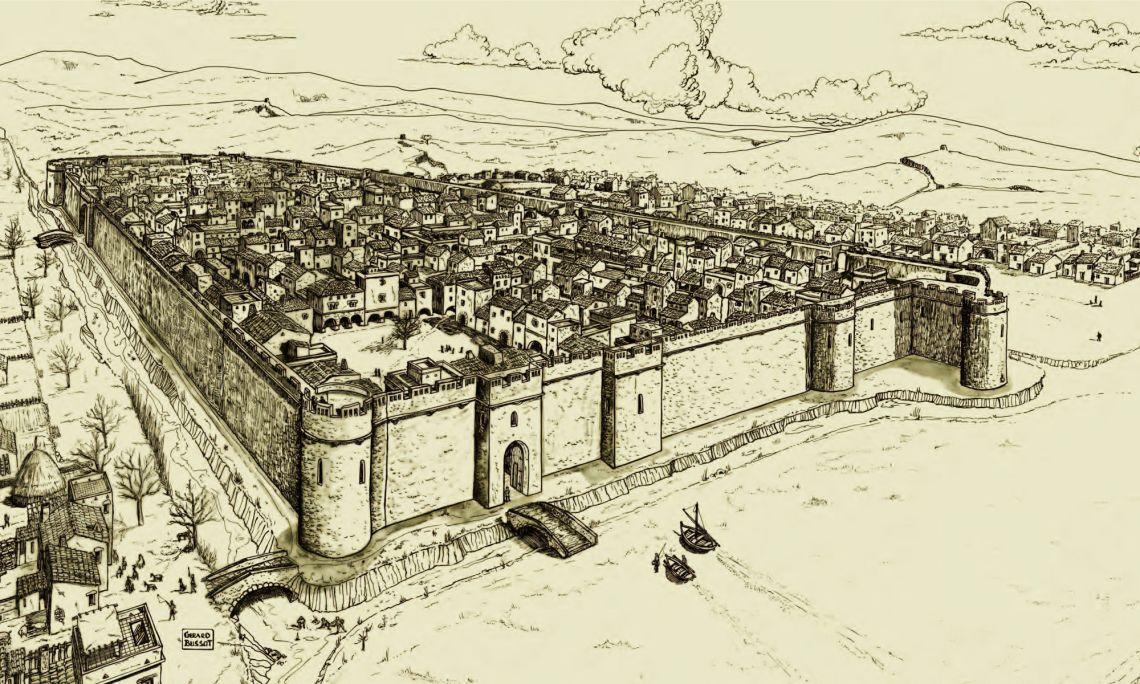 Recreació de la vila guixolenca.