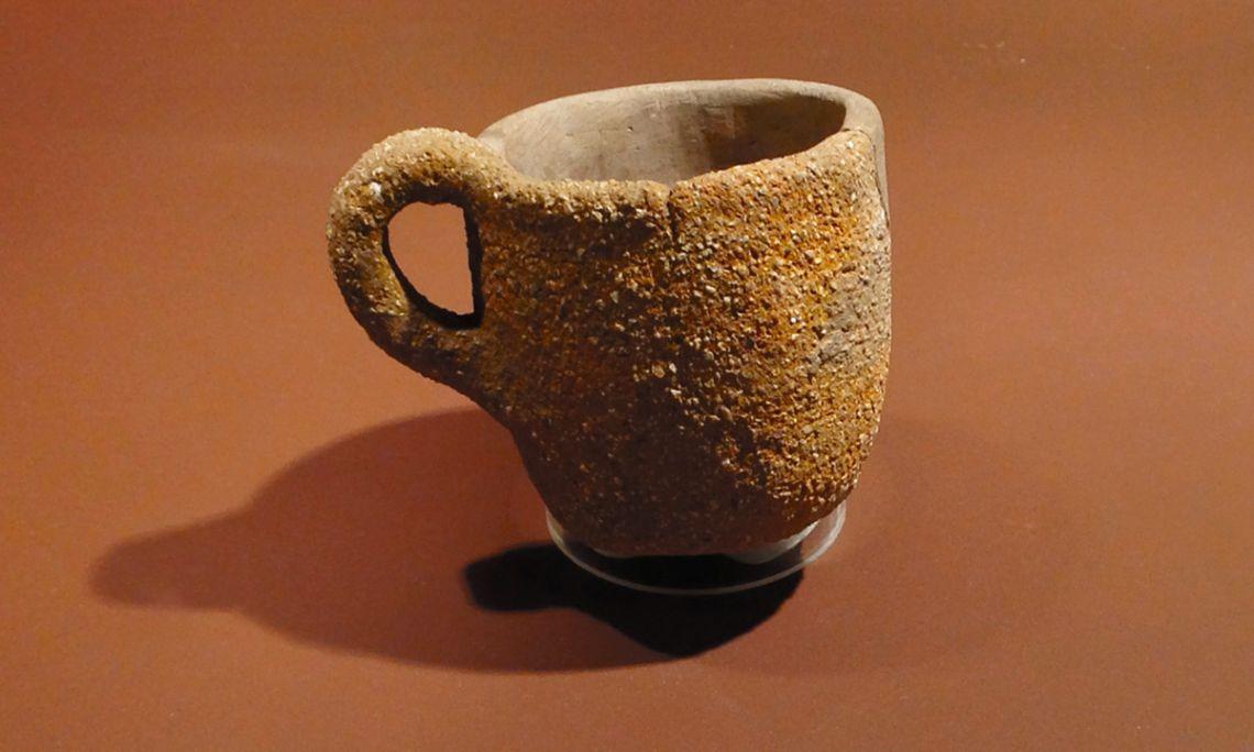 Taza de cerámica.