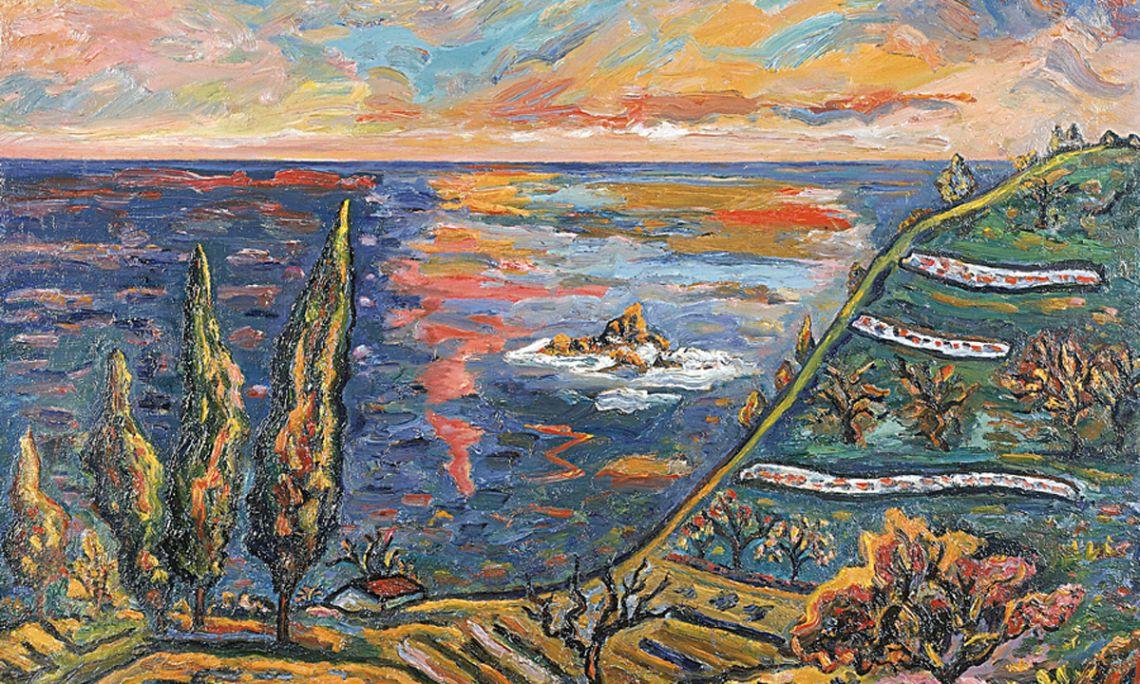Árboles, arrecifes y reflejos, Josep Albertí, 1983. Óleo sobre tela.