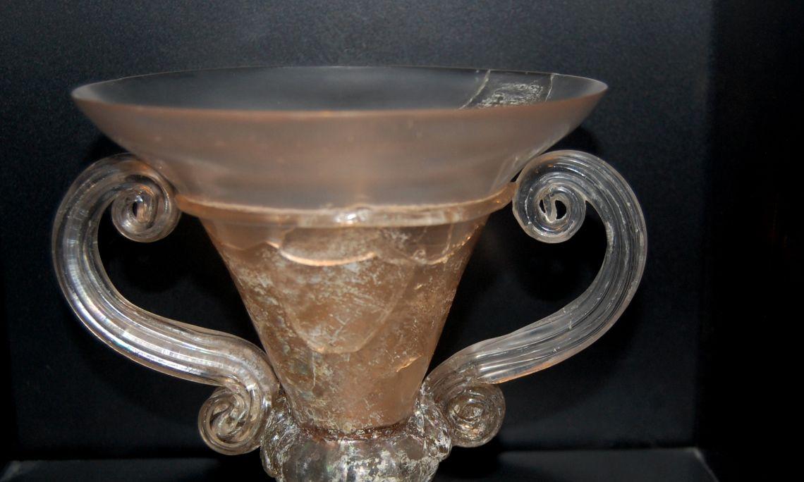 Copa de vidre.