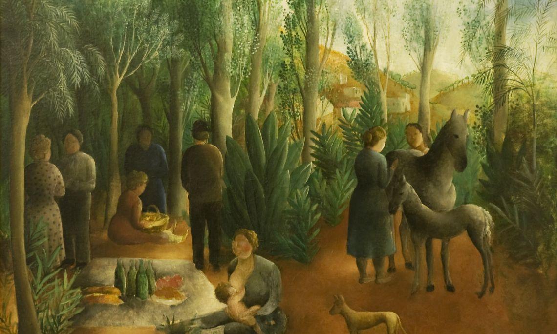 Pique Nique (Pícnic), 1916 - 1918. Olga Sacharoff (Tiflis, 1889 – Barcelona, 1967).