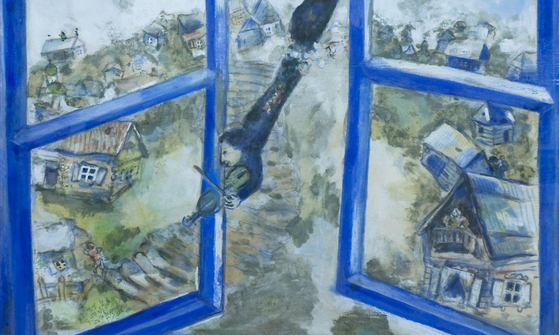 El violinista celest, 1934. Marc Chagall (Vítsiebsk, 1887 – Saint-Paul de Vence, 1985). Guaix.