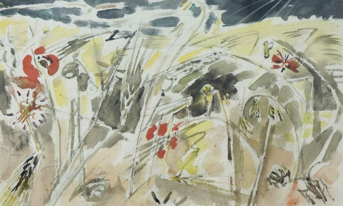 Batalla d'insectes. André Masson (Balagny-sur-Thérain, 1896 - Paris, 1987).