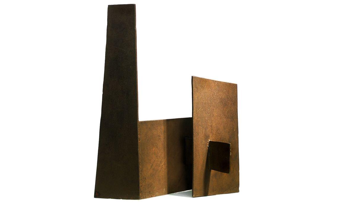 Sin título (escultura en plancha de hierro), Leonci Quera, 1962-1964.