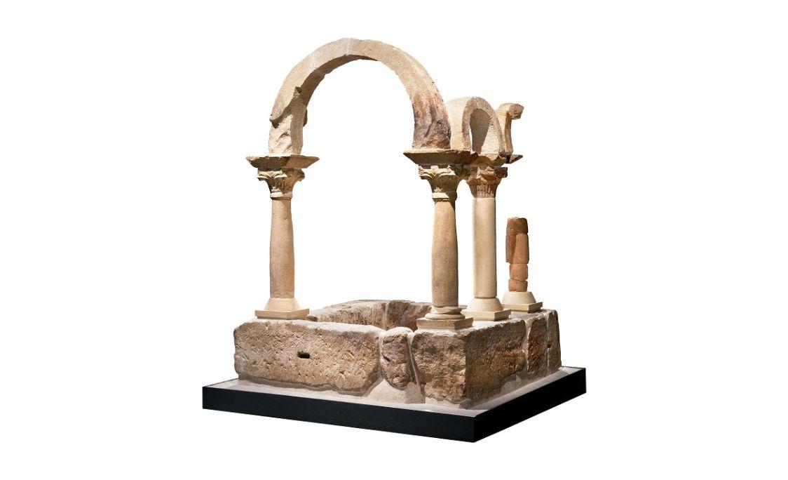 Baptistère qui était situé aux pieds de la basilique paléochrétienne du Bovalar (Seròs).