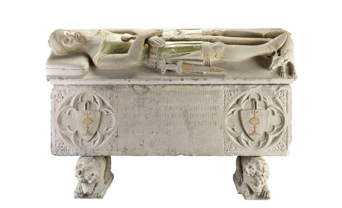 Sarcophage de Hug de Copons, de Saint Julià de Llor (Segarra), attribué à Pere Moragues, XIVe siècle.