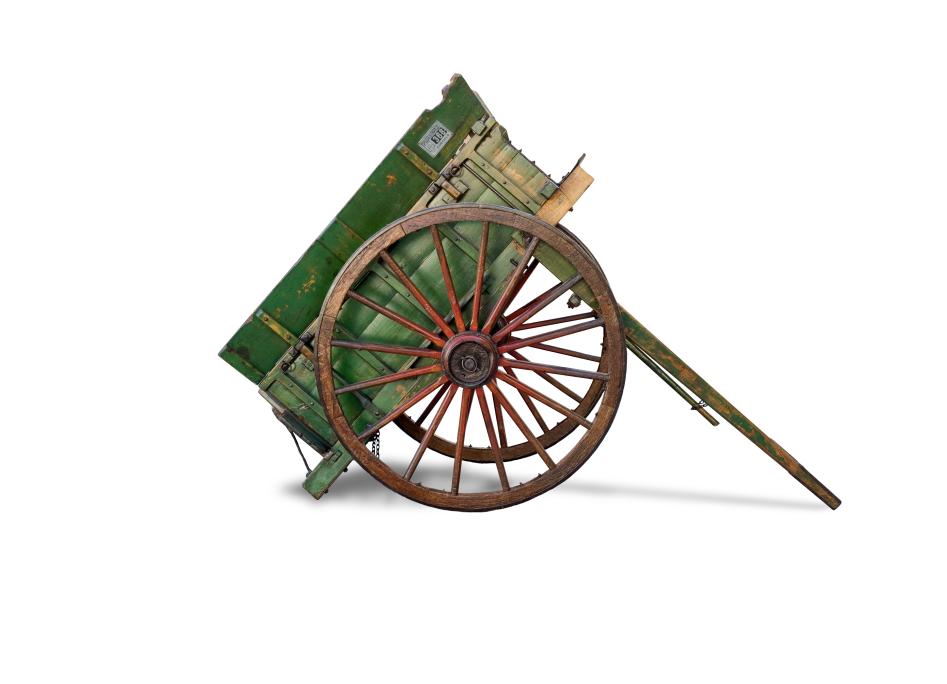 Carro de trabuc. Segona meitat del segle XIX. Dimensions: 480 x 173 x 175 cm.