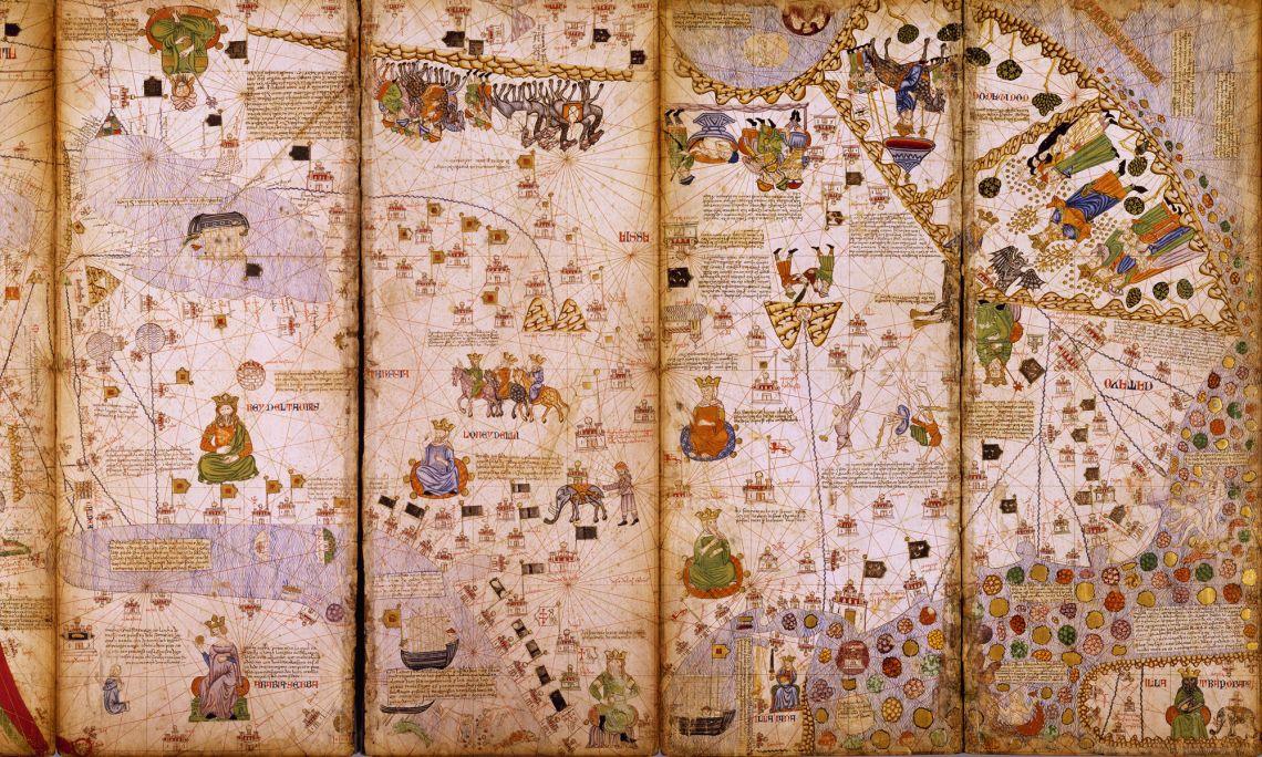 Atles Català. 1373, Mallorca. Reproducció (original a la Bibliothèque Nationale de France, París)