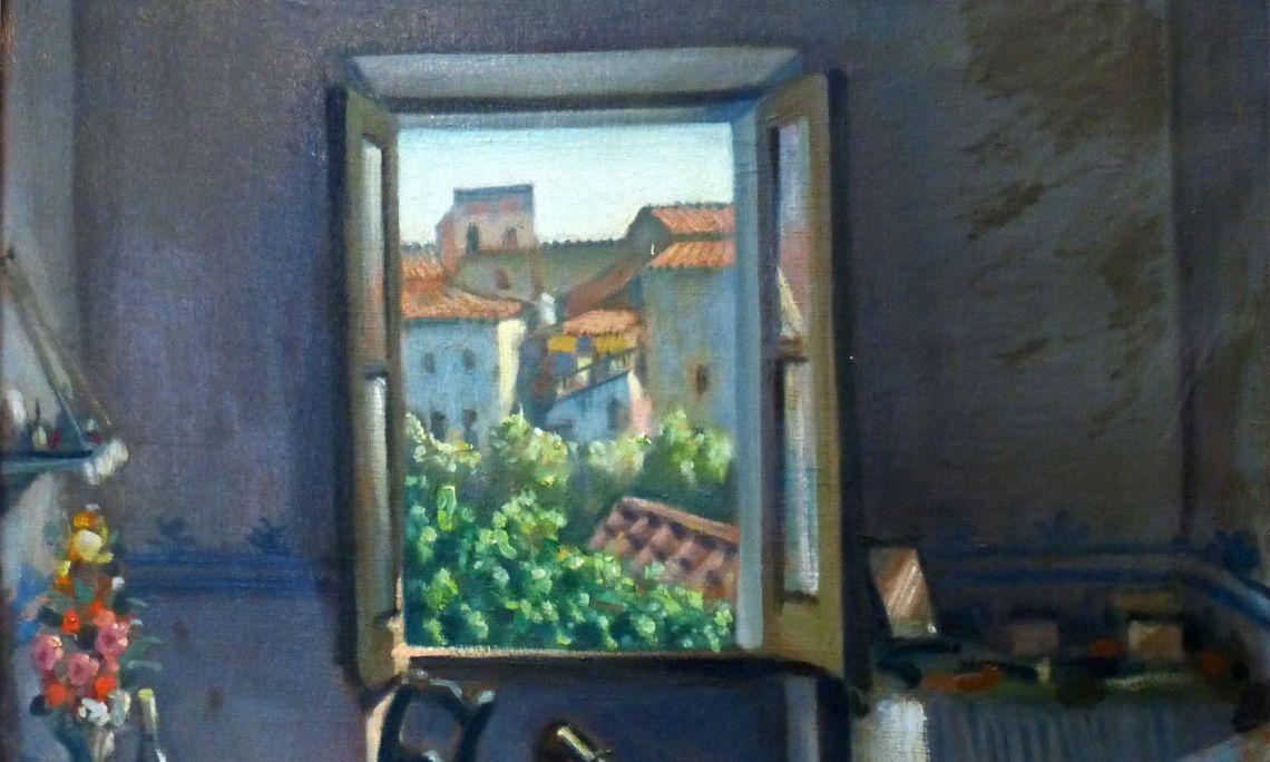 Ventana abierta o Interior de una habitación, Josep Aragay, 1922. Óleo sobre tela.