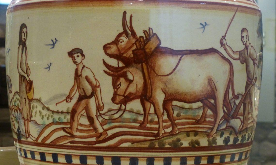 El blat (Wheat), Josep Aragay, 1928. Ceramic vase.