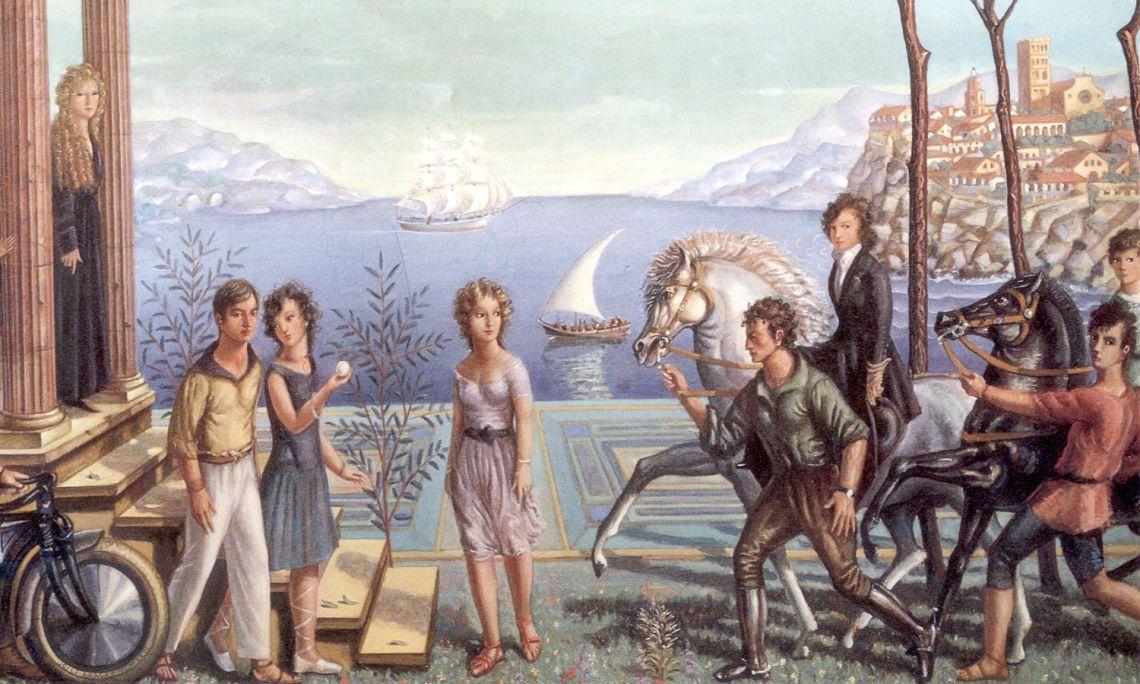 Vacances, Josep Aragay, 1923. Oli sobre tela.