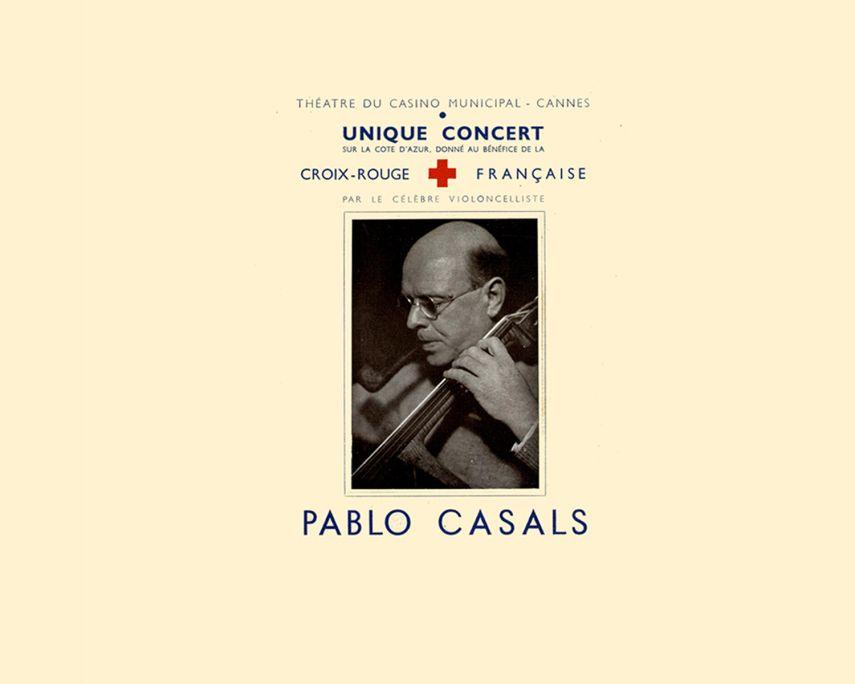 Programa d'un concert benèfic de Pau Casals per a la Creu Roja francesa, 1944.
