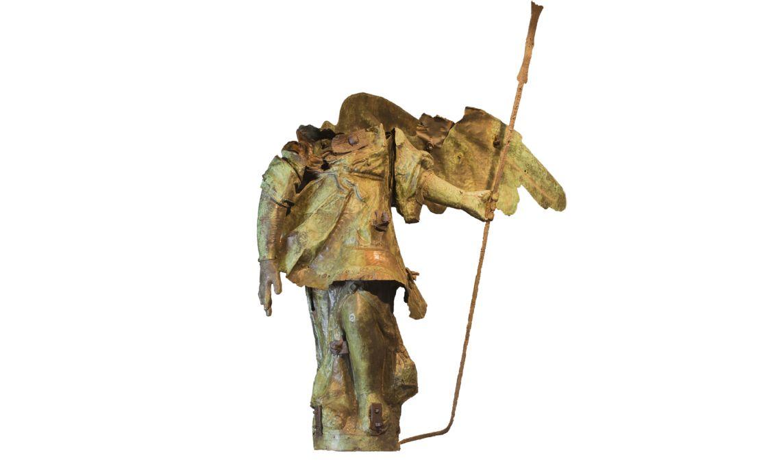 Escultura de bronce, el Ángel de la Catedral, de Ramon Salvatella (s. XVIII). Fotografía: Martí Artalejo.