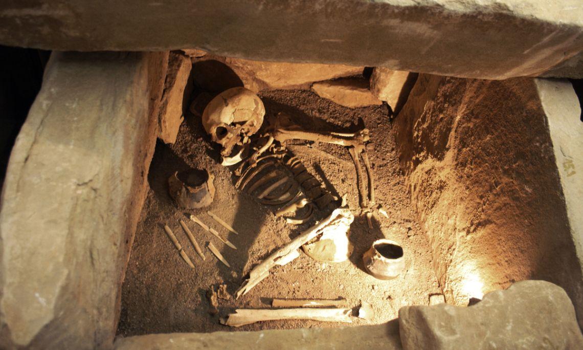 Enterrament neolític localitzat al terme de Vimbodí i Poblet.