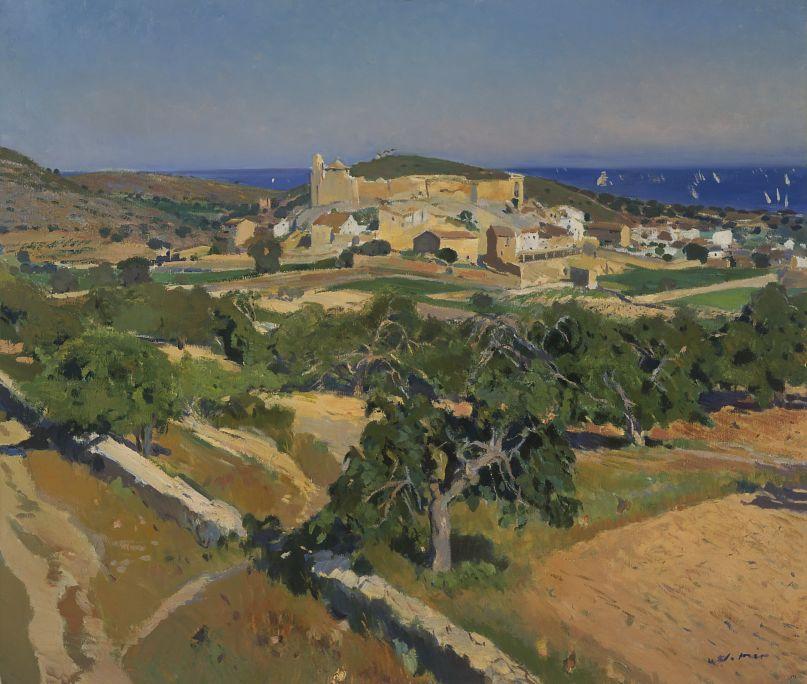 Calafell,Joaquim Mir (1873-1940). Oli sobre tela. Mida: 96x111 cm.