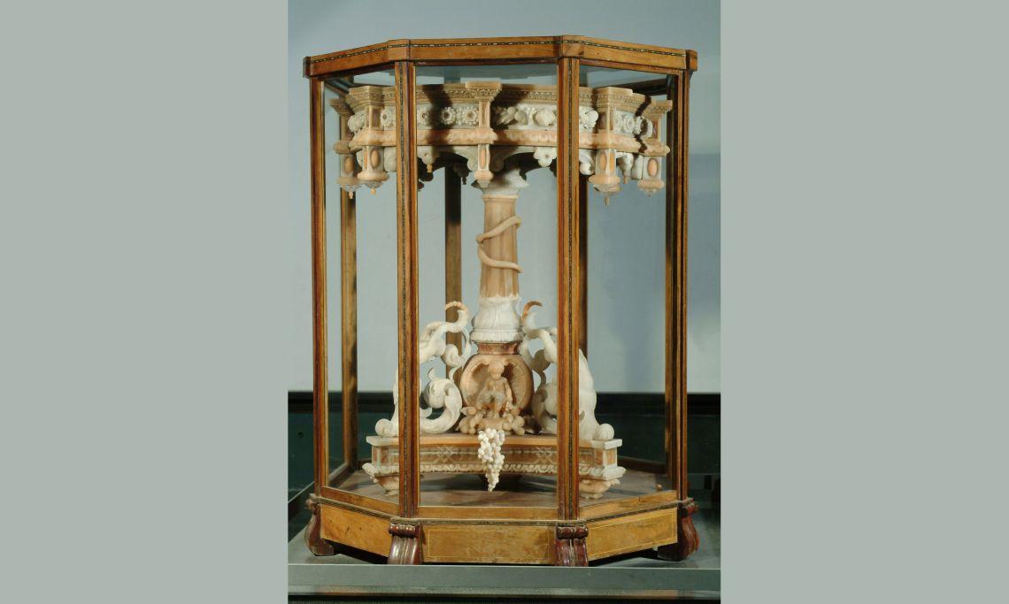 Taula d'escacs, de sal gemma, Giovanni Battista Pietrasanta, 1861.