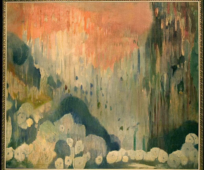 Coves de Mallorca. Decoració de la casa Trinxet, Joaquim Mir i Trinxet, 1903, oli sobre tela, 190 × 220 cm
