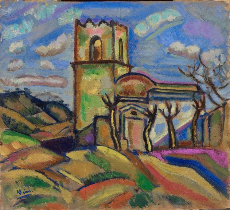 Ermita de Sant Joan d'Horta, Joan Miró, 1917, oli damunt cartó, 52 × 57 cm, Fundació Joan Miró, Barcelona. Donació de Joan Prats