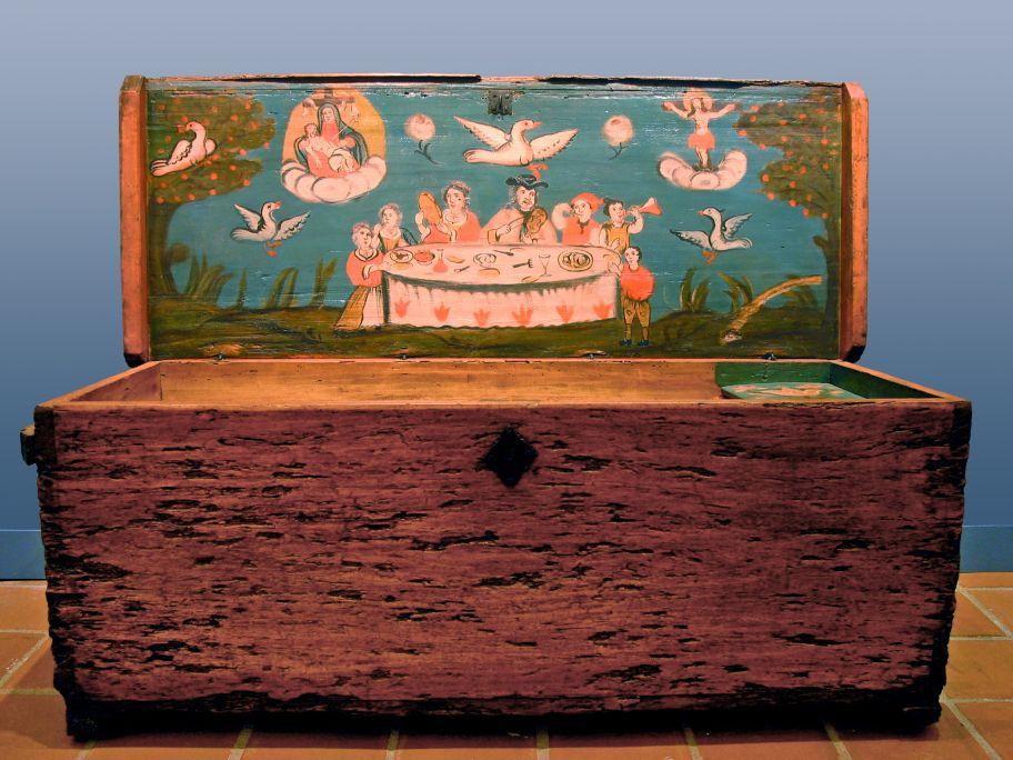 Caixa de mariner del segle XVIII. Foto: Enric Pera