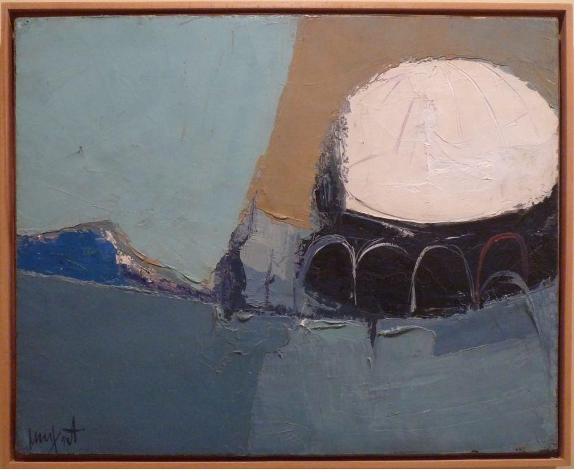 Cúpula blanca, 1963, oli sobre tela, 62 × 76 cm