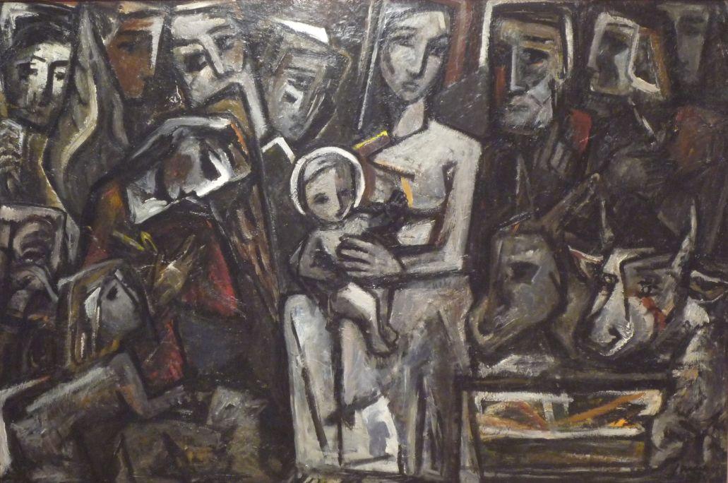Pesebre, 1951, óleo sobre tela, 114 × 146 cm