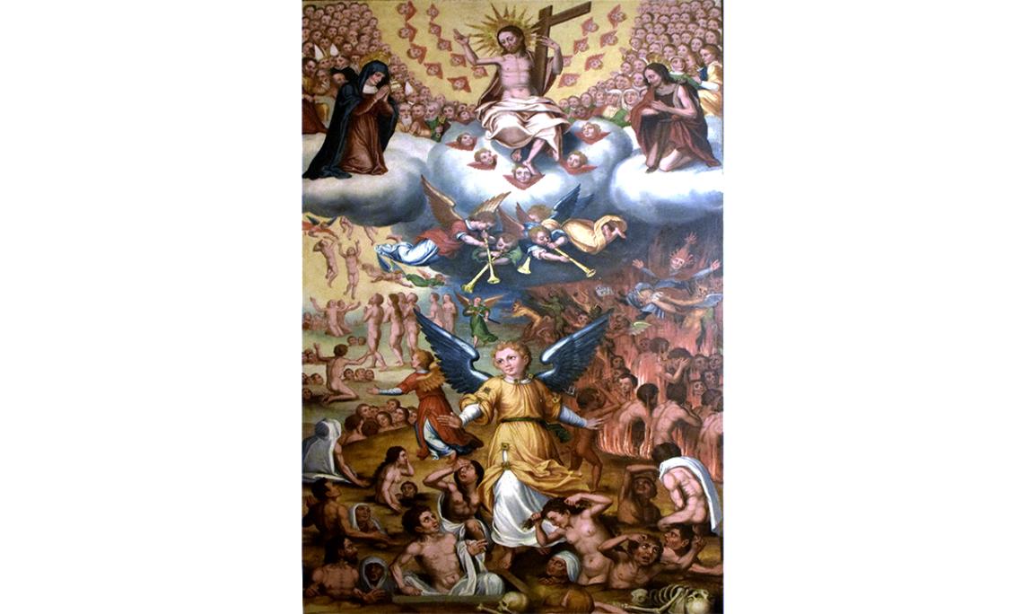 Retaule de les Ànimes. Taula del Judici Final. Jaume Huguet II (fill), inicis del segle XVII
