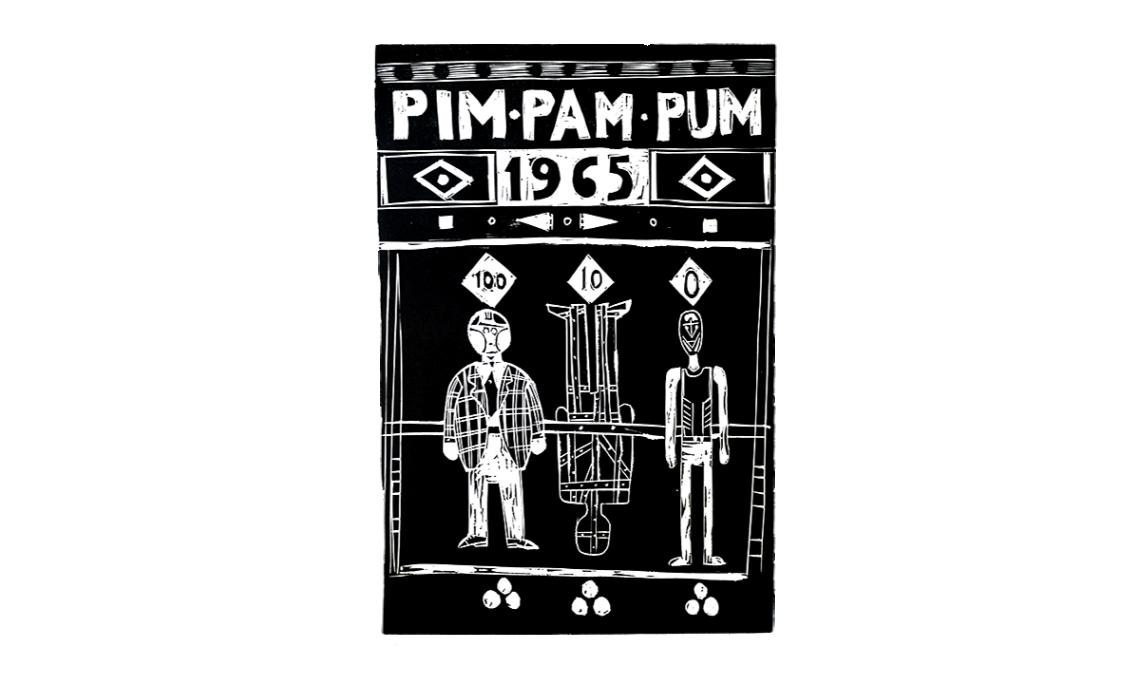 Pim, pam, pum, Albert Ràfols-Casamada, 1966, gravat. Col·lecció d'Estampa Popular