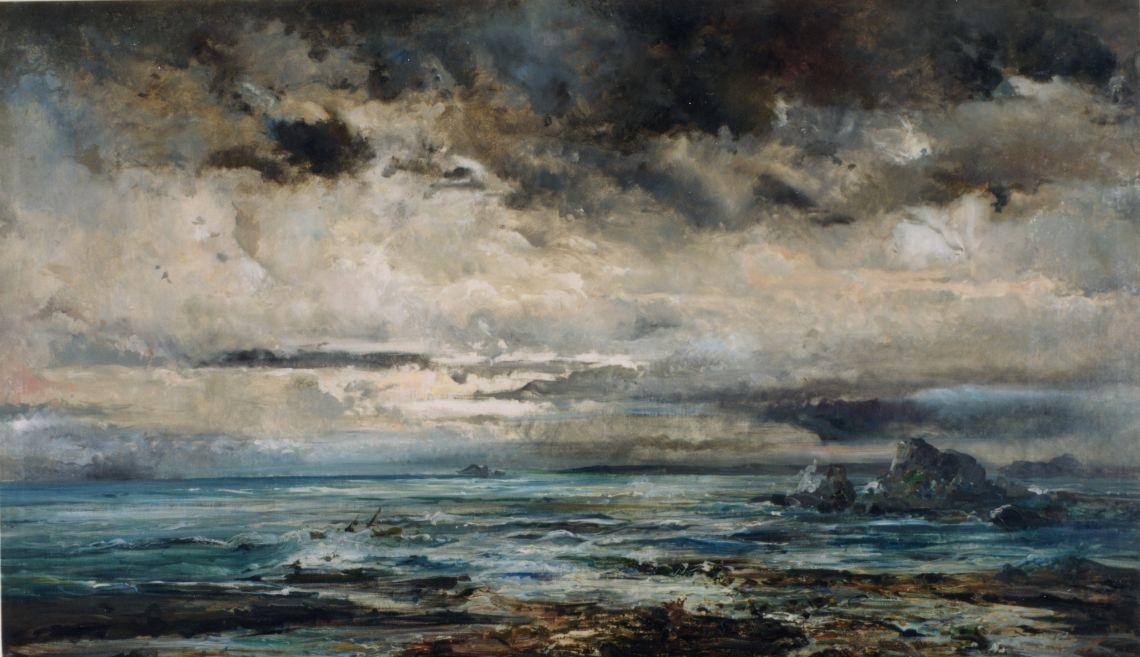Mar tempestuós, Ramon Martí i Alsina, entre 1875 i 1884. Oli sobre tela, 137×239 cm.