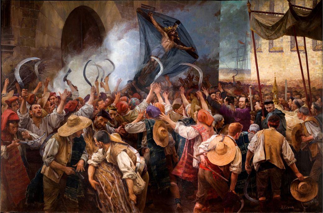 Els segadors, Antoni Estruch, 1907, oli sobre tela, 262 × 404 cm