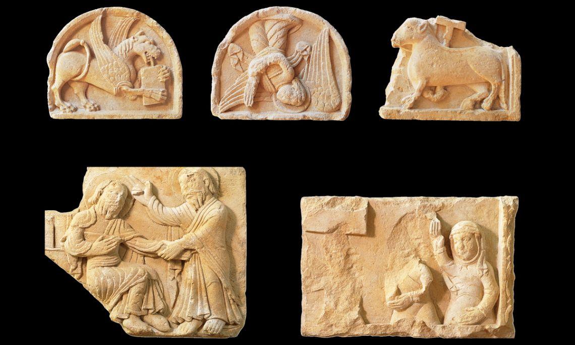 Relieves de la catedral románica de Vic, siglo xii, taller de Vic-Ripoll