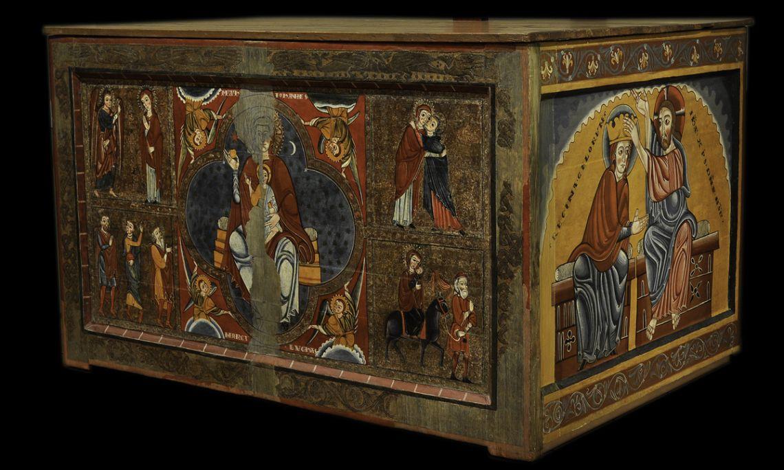 Altar de Santa Maria de Lluçà, Mestre de Lluçà, segle XIII, tallers de Vic