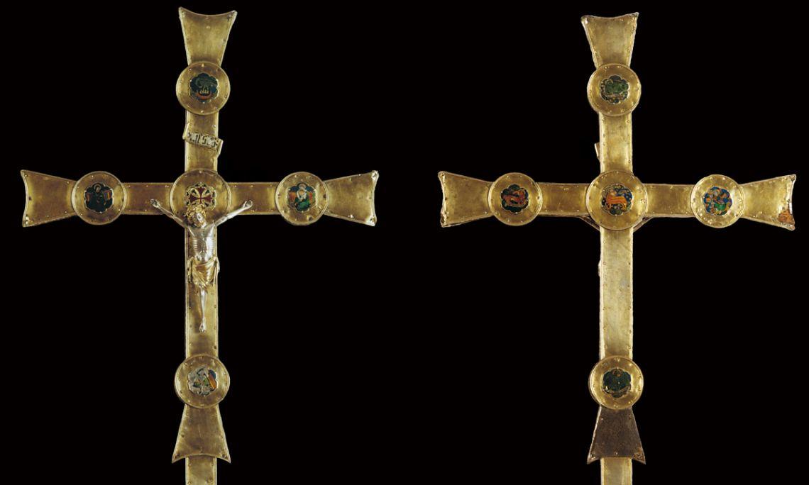 Cruz procesional de Sant Joan de les Abadesses, siglo xiv