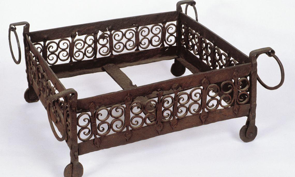 Brasero en fer forgé, XIVe siècle