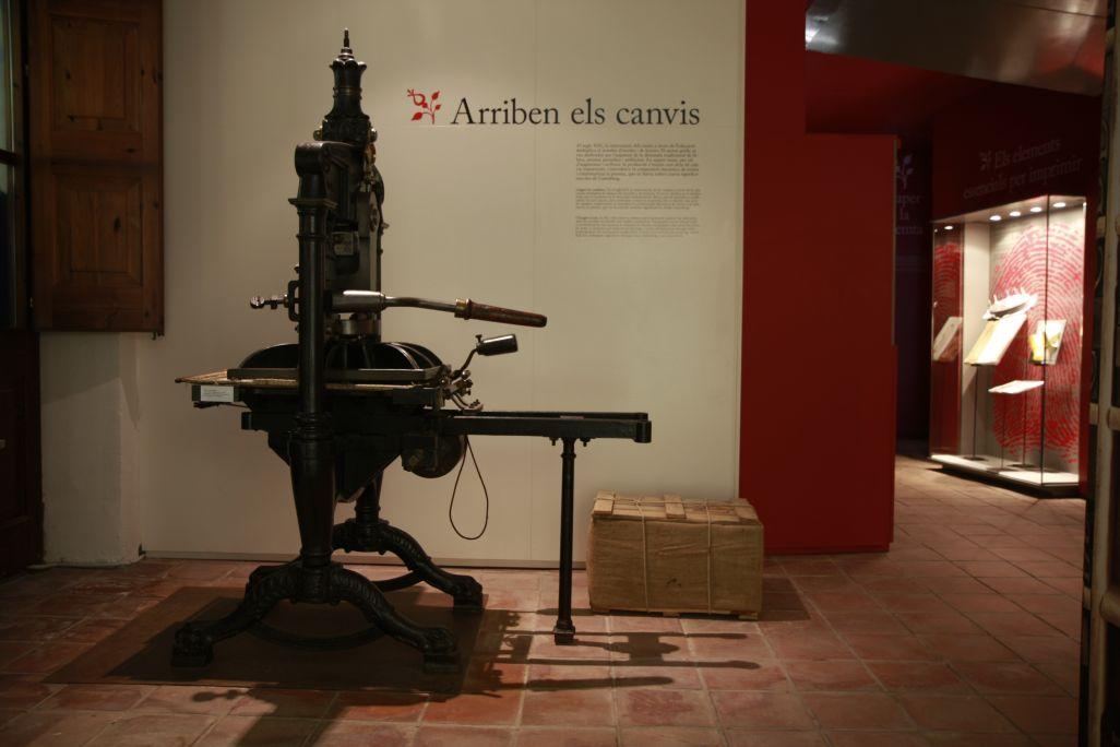 Premsa de ferro de Lord Stanhope, amb la qual s'aconseguien més de 200 impressions per hora.