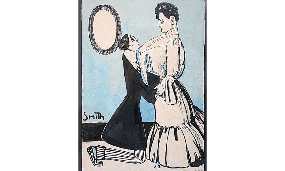 Súplica, Ismael Smith i Marí, s. d., tinta i aquarel·la sobre paper, 23,5 × 17 cm